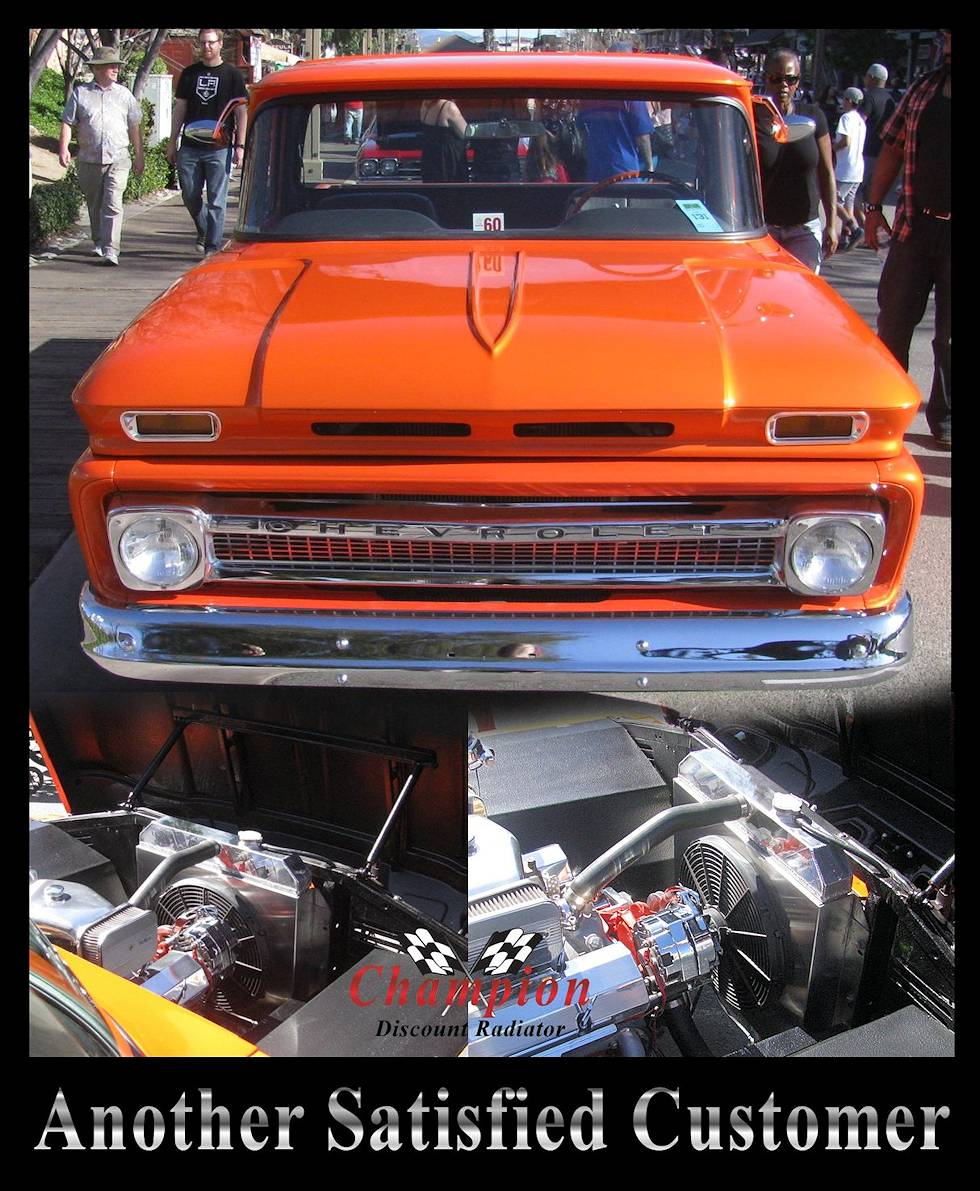 1960 1961 1962 Gmc Chevy Suburban Truck 2 Core Champion Aluminum Dr Pickup Will Cool Up To 450 Hp