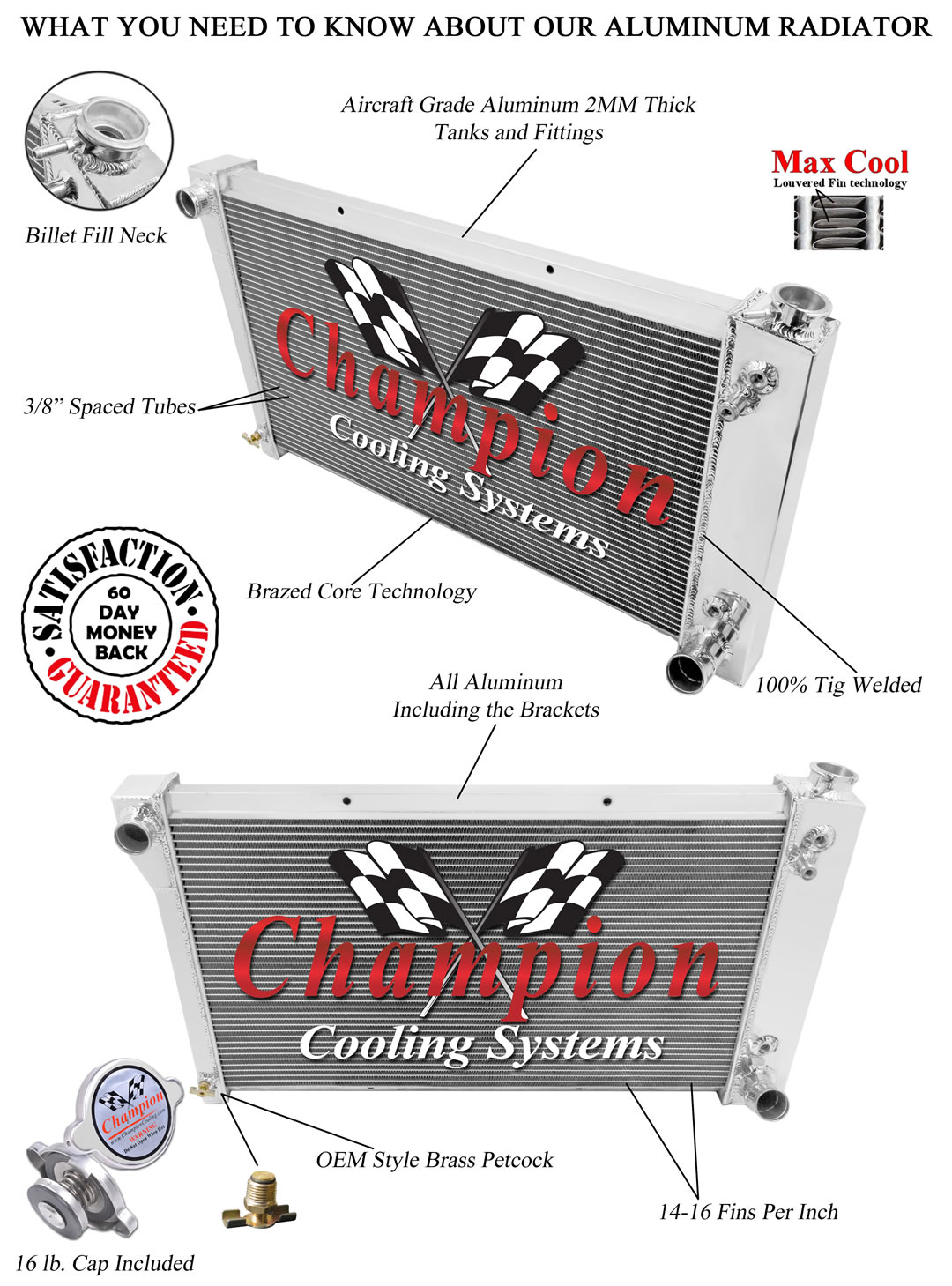 Champion Cooling Systems CC338 RR Radiator