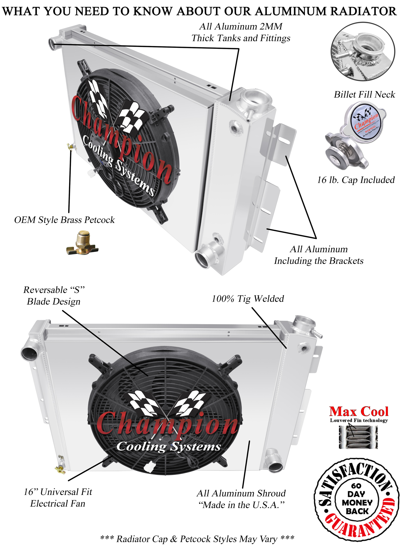 Details about 4 Row Perf Radiator,16