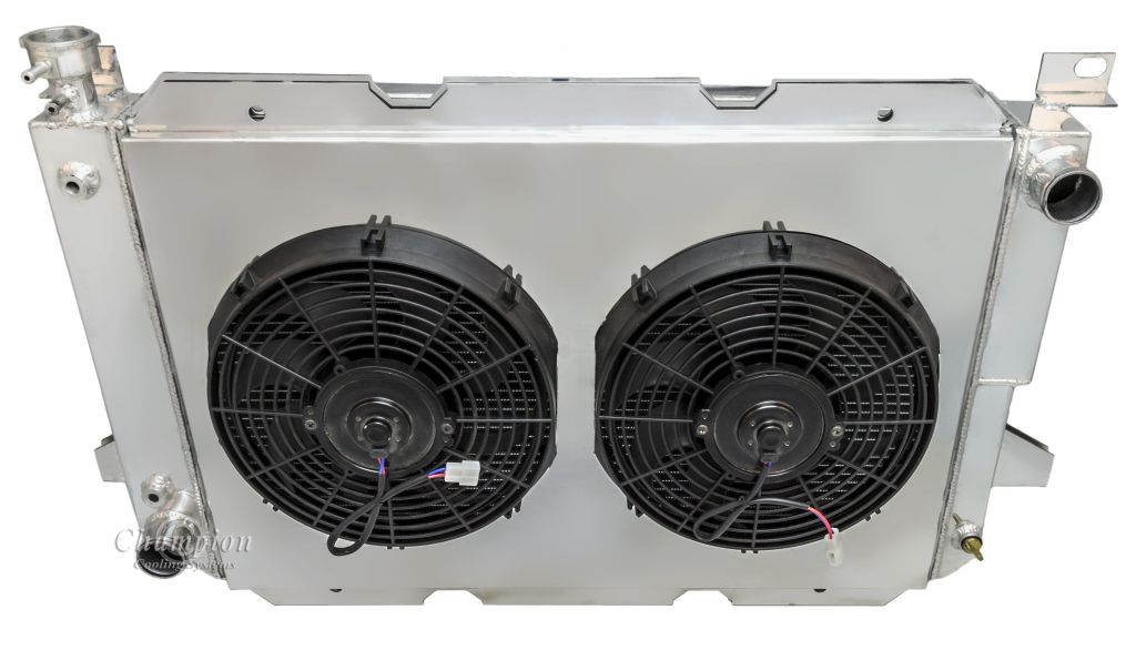 Ford bronco radiator aluminum 4 row champion shroud 12 fans click thumbnails to enlarge sciox Choice Image