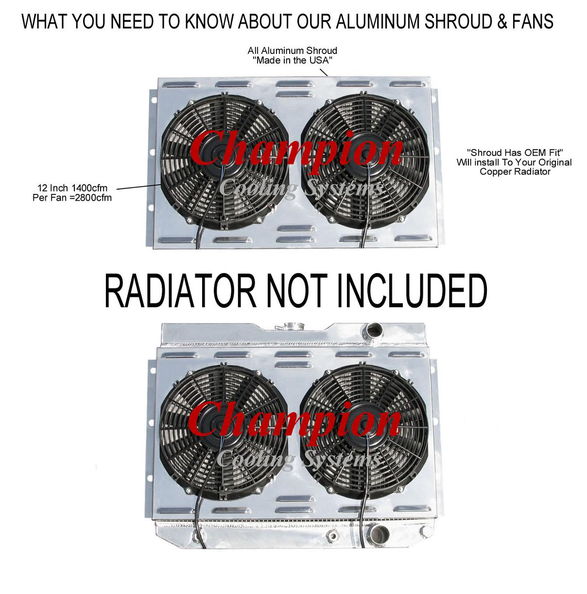 1964 1965 chevy chevelle champion aluminum fan shroud fans you will not a better guarantee anywhere on