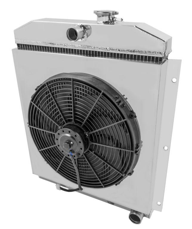 1949 1954 chevrolet truck aluminum 3 row kr champion radiator fan does not apply sciox Choice Image