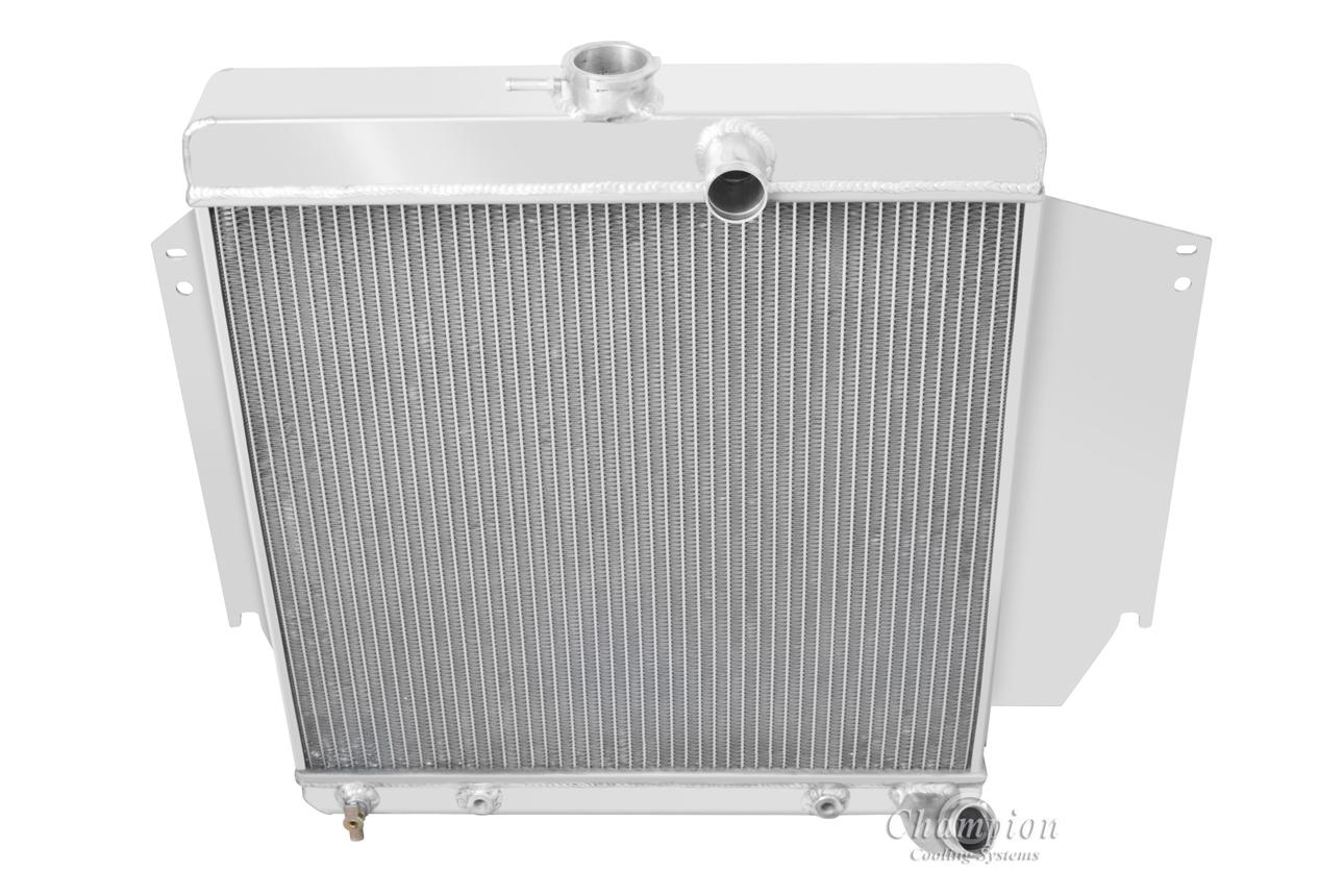 """1965-1966 Plymouth Valiant//Signet V8 Aluminum 3 Row Champion Radiator /& 16/""""Fan"""