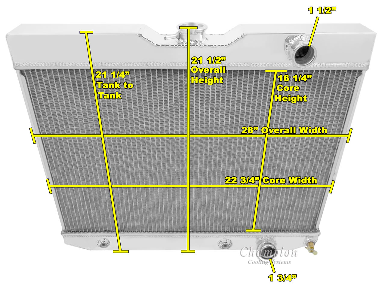 1959 1963 Chevy Impala Aluminum 2 Row 1tubes American Eagle 1966 Chevrolet Bel Air Radiator Ae281 1