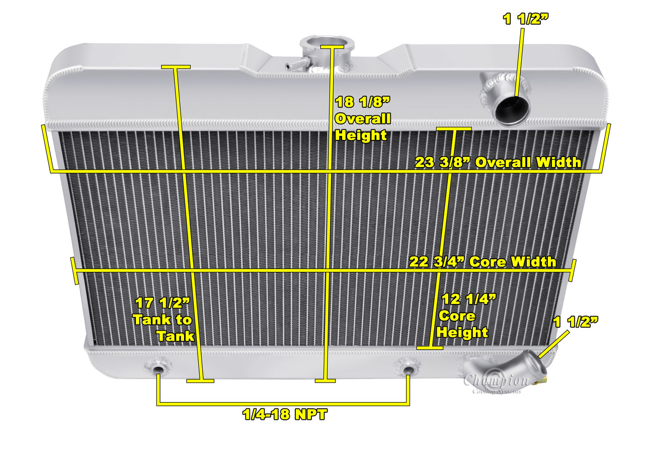3Row Core Aluminum Radiator For Buick Skylark 1962 1963 3.5L V8 Engines Warranty